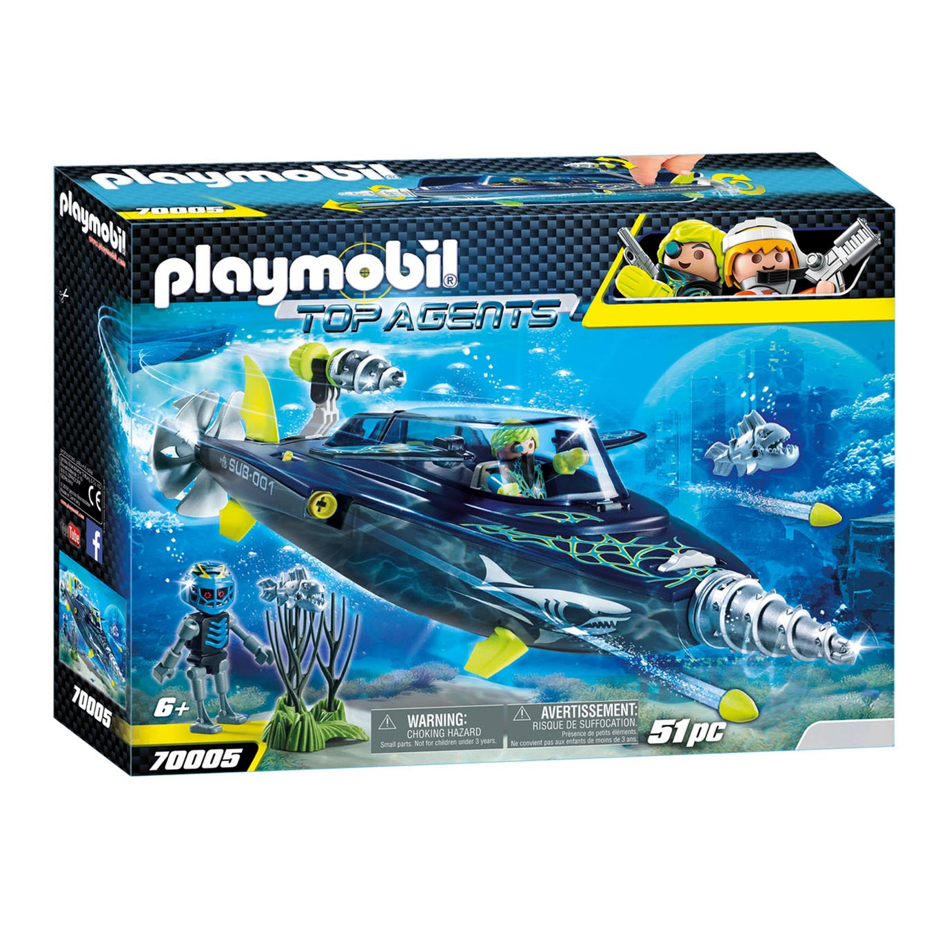 46ec573a368cb8 Playmobil 70005 Team S.H.A.R.K. Drilonderzeeër online kopen