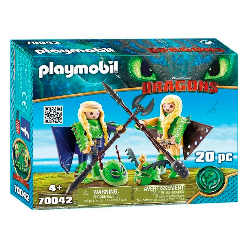 Playmobil Dragons 70042 Schorrie en Morrie in Vliegpak