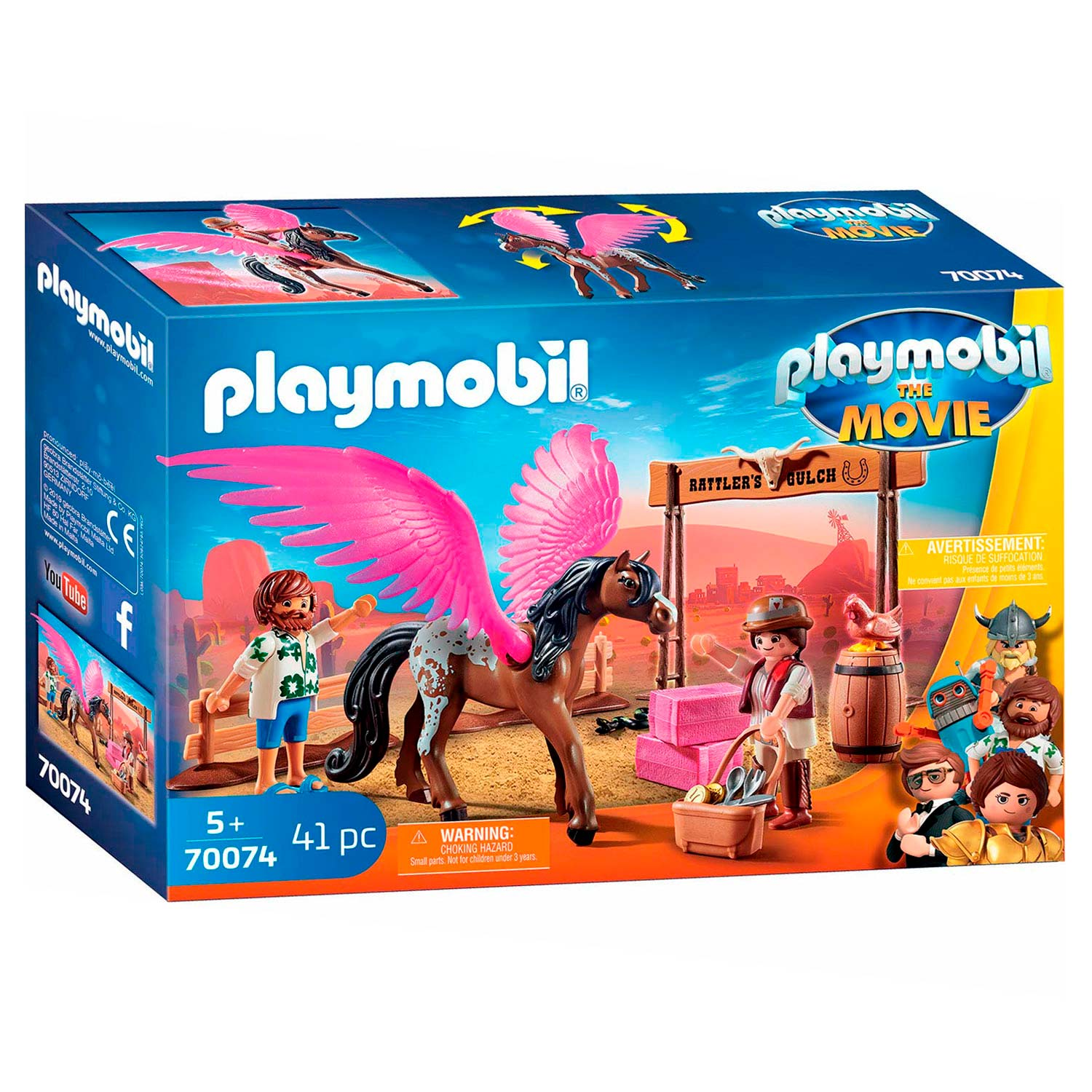 Playmobil the Movie 70074 Marla en Del met Gevleugeld Paard
