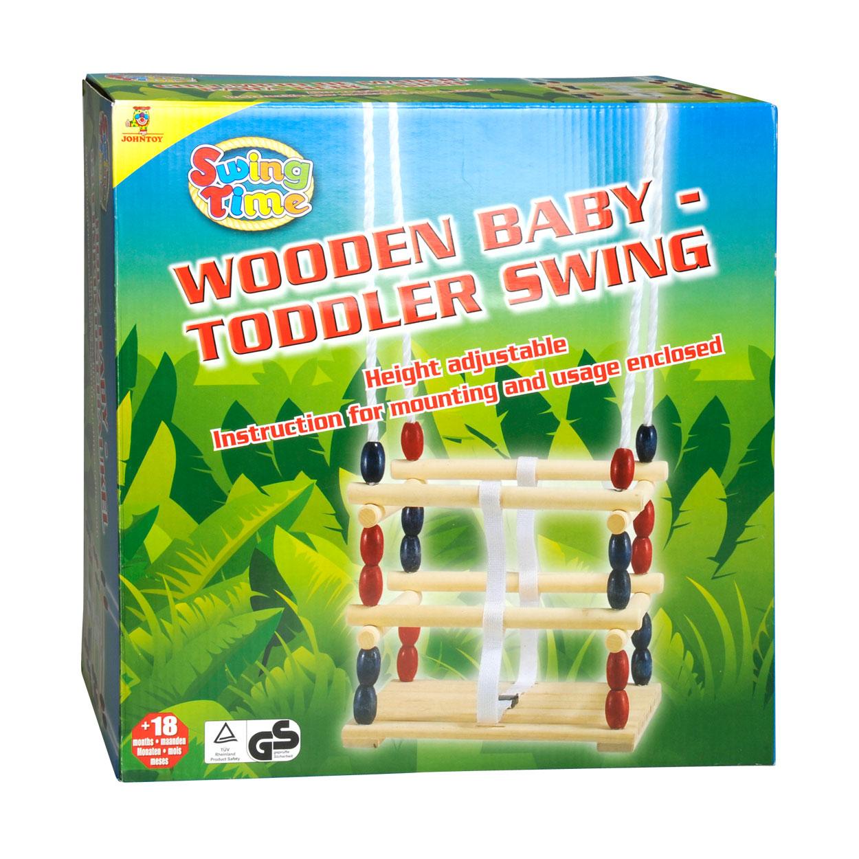 Baby Peuter Schommel.Swing Time Houten Baby Peuter Schommel Online Kopen Lobbes Nl