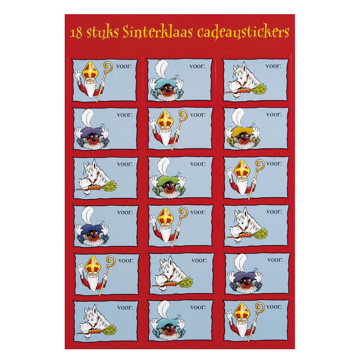 Naamstickers Sinterklaas 24st Online Kopen Lobbes Nl