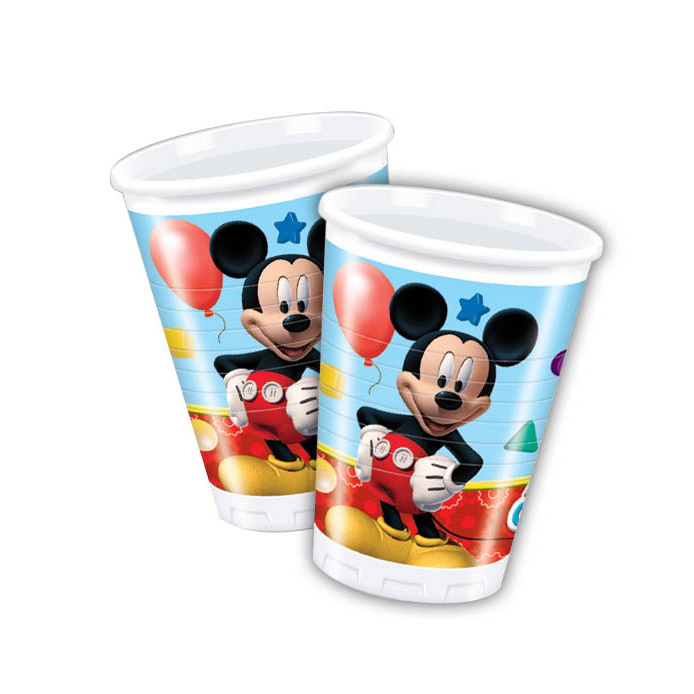 Bekers Mickey Mouse, 8st.