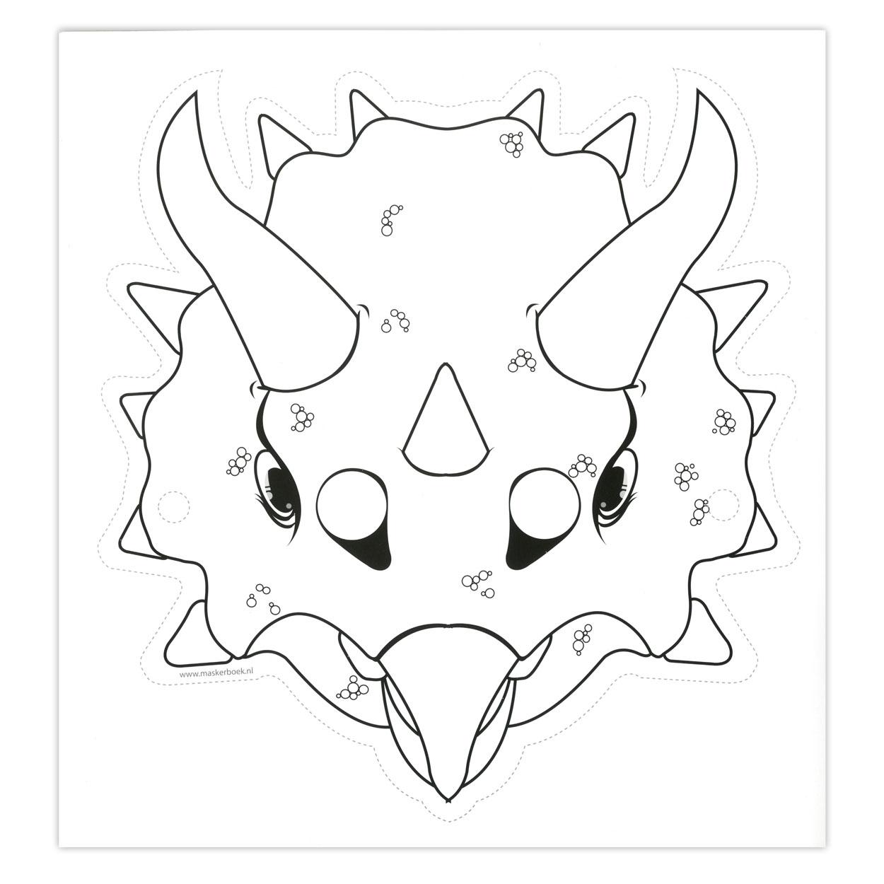 Kleurplaten Maskers Maken.Maskers Dino S