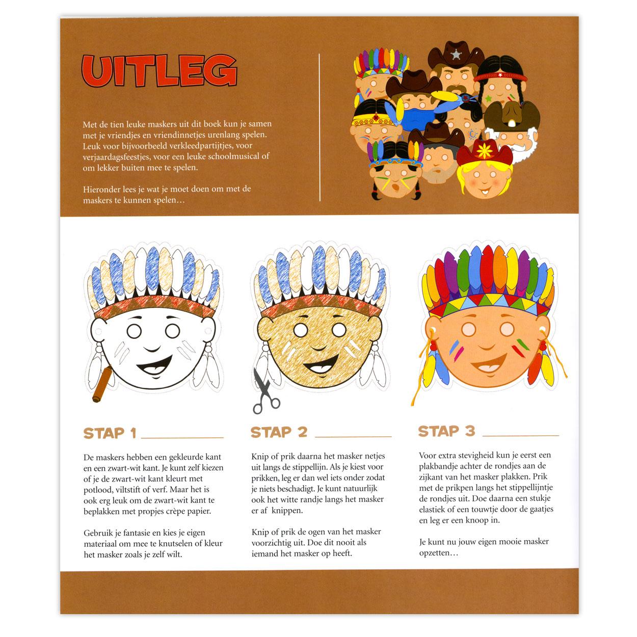 Maskers  Cowboys en Indianen online kopen   Lobbes nl