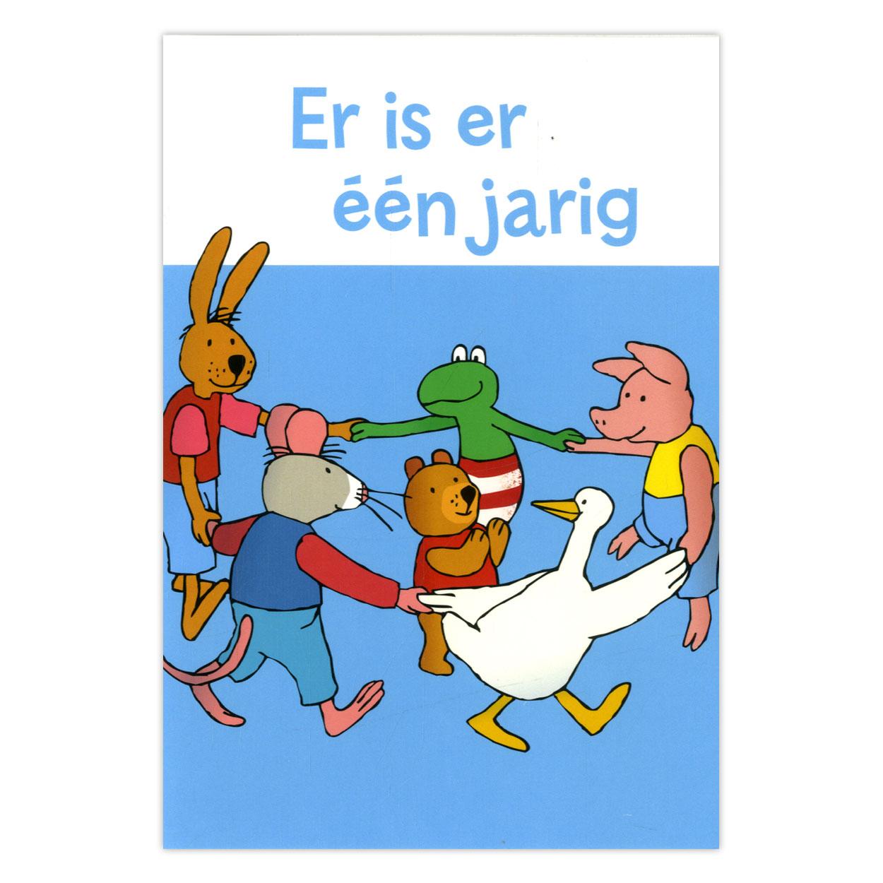 Kikker Amp Vriendjes Wenskaart Er Is Er Een Jarig Online