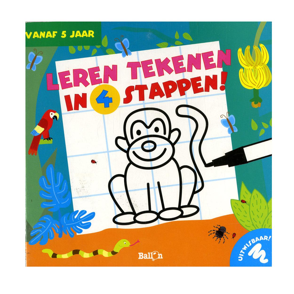 8fb31906c4a Leren Tekenen in 4 Stappen - Aap online kopen | Lobbes.nl