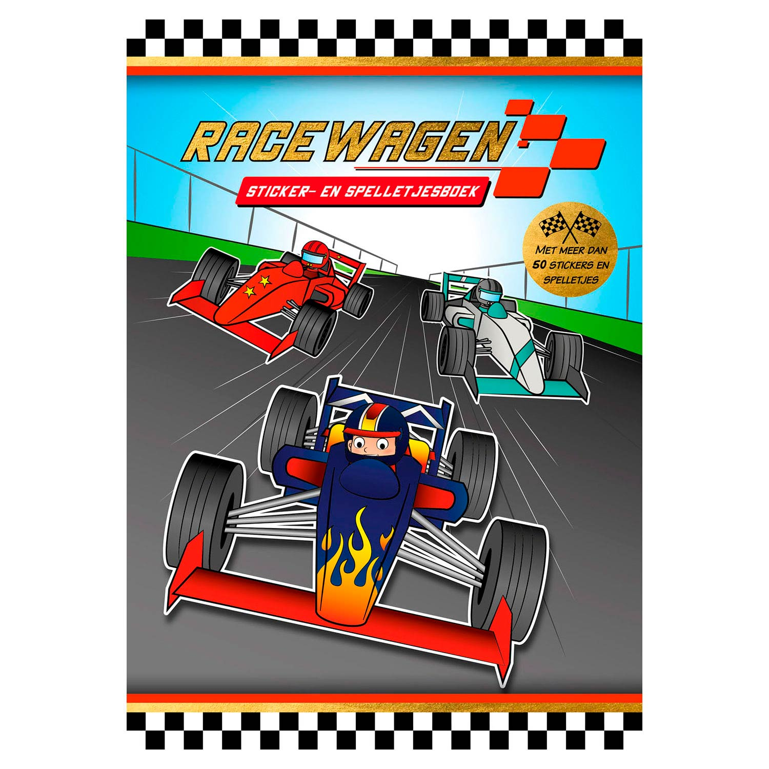 Sticker- en Spelletjesboek Racewagen