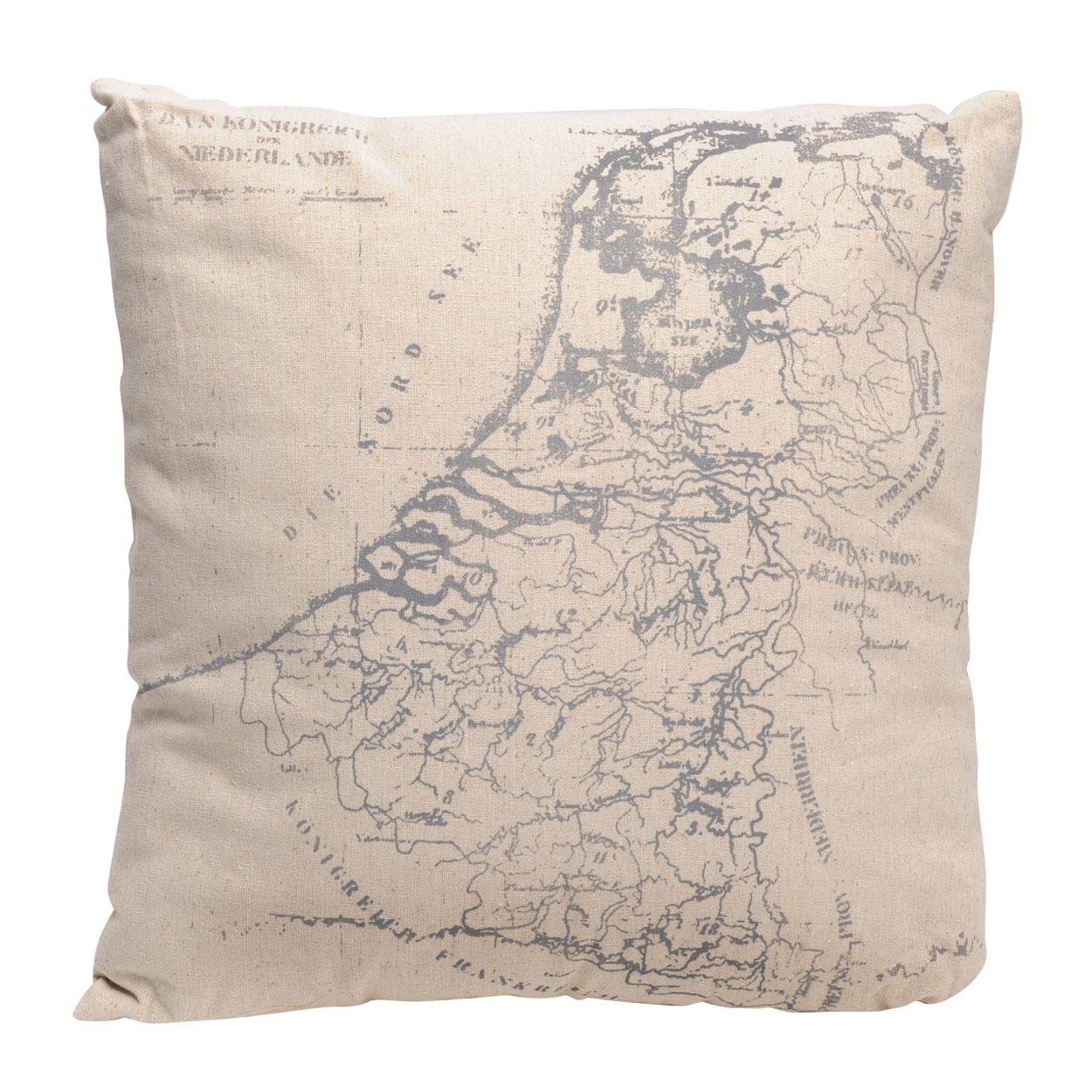 Kussen Landkaart online kopen   Lobbes nl
