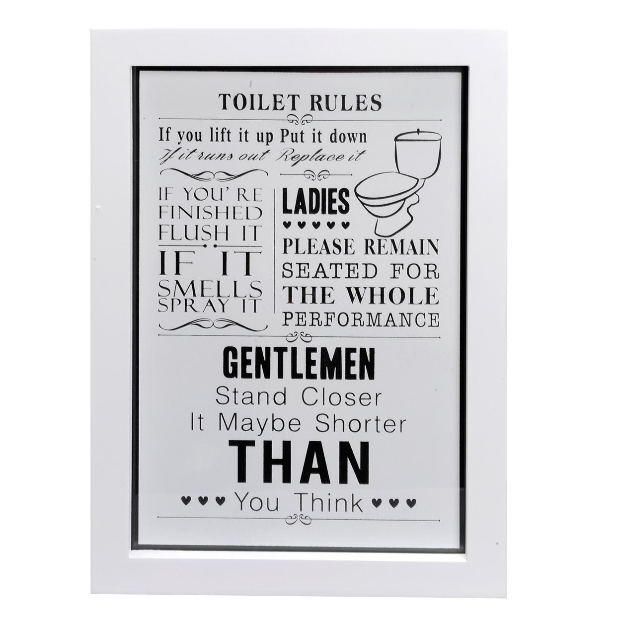houten tekstbord toilet rules online kopen lobbesnl