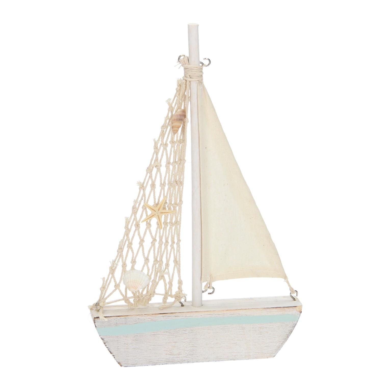 Zeilboot hout online kopen for Decoratie zeilboot