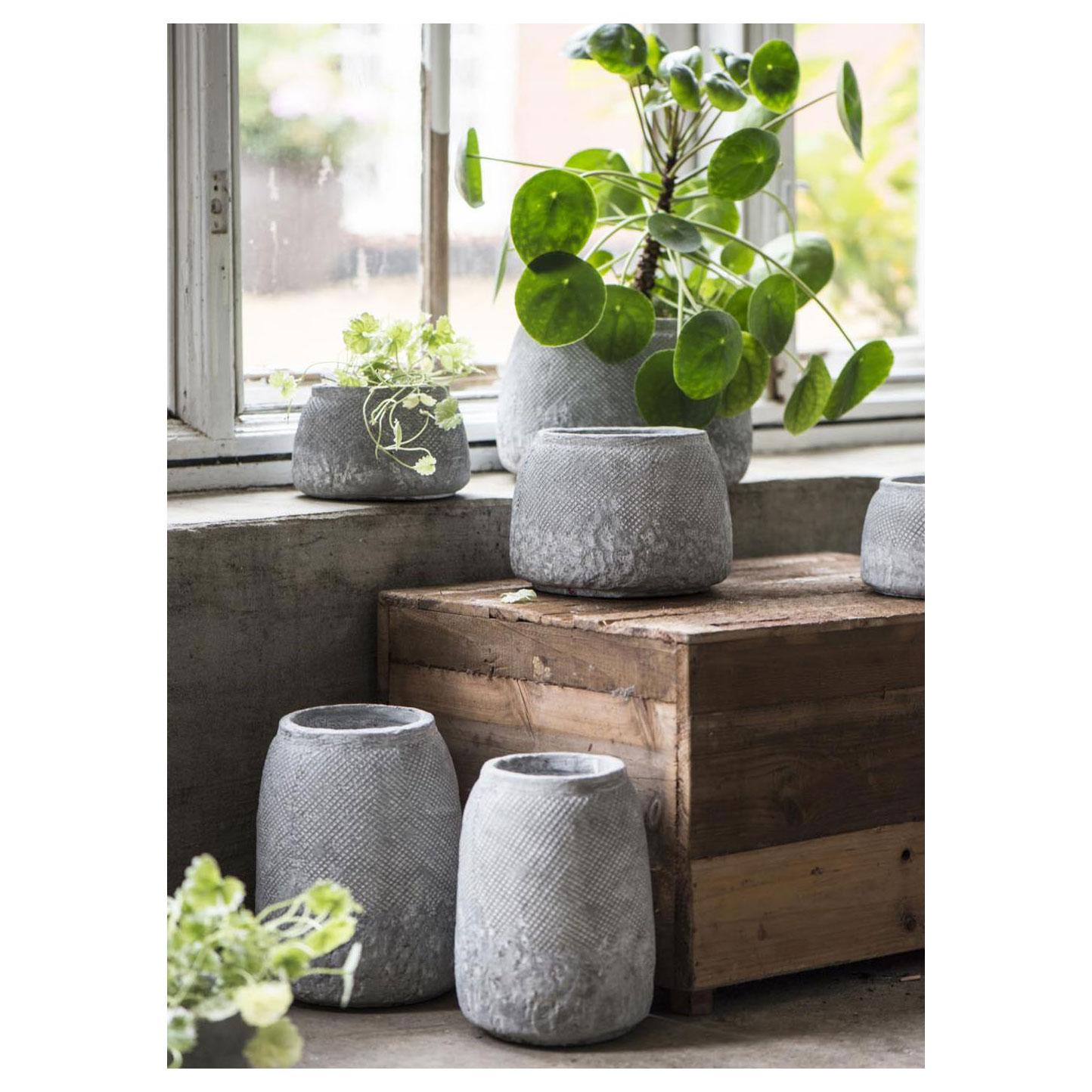 Top Ib Laursen Plantenpot Hanoi Beton Grijs, 13,5cm online kopen GL13
