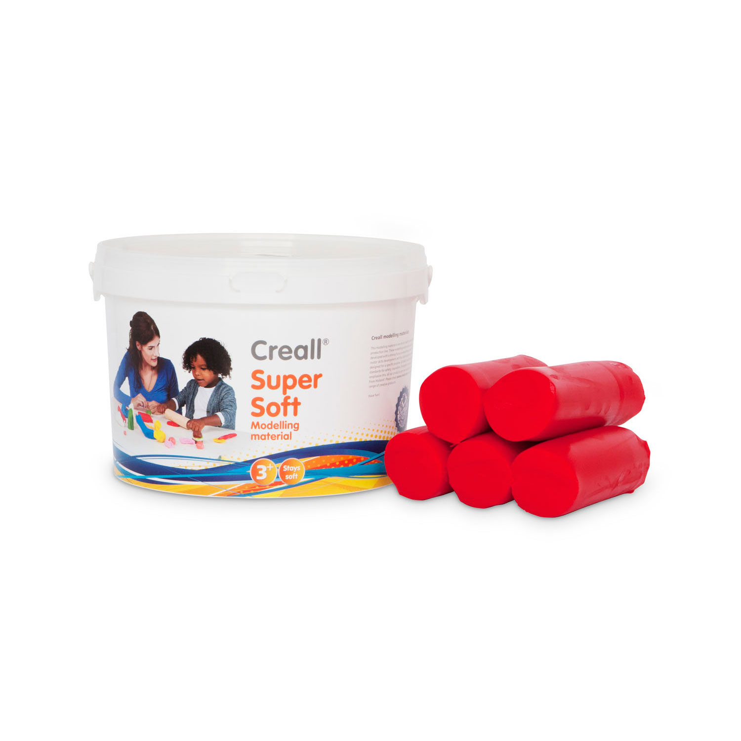 Creall Supersoft klei Rood, 1750gr.