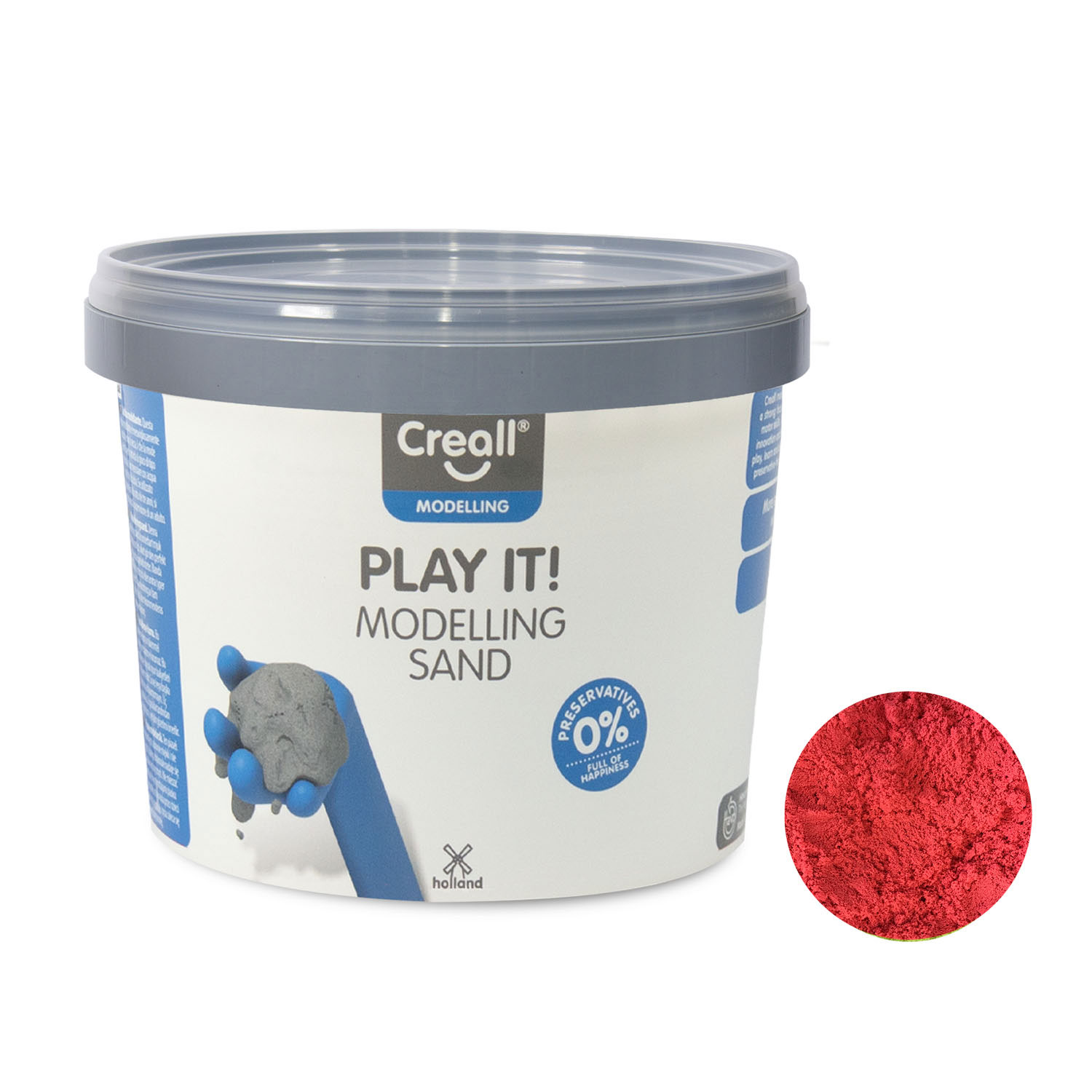 Creall Play It Speelzand Rood, 750gr.