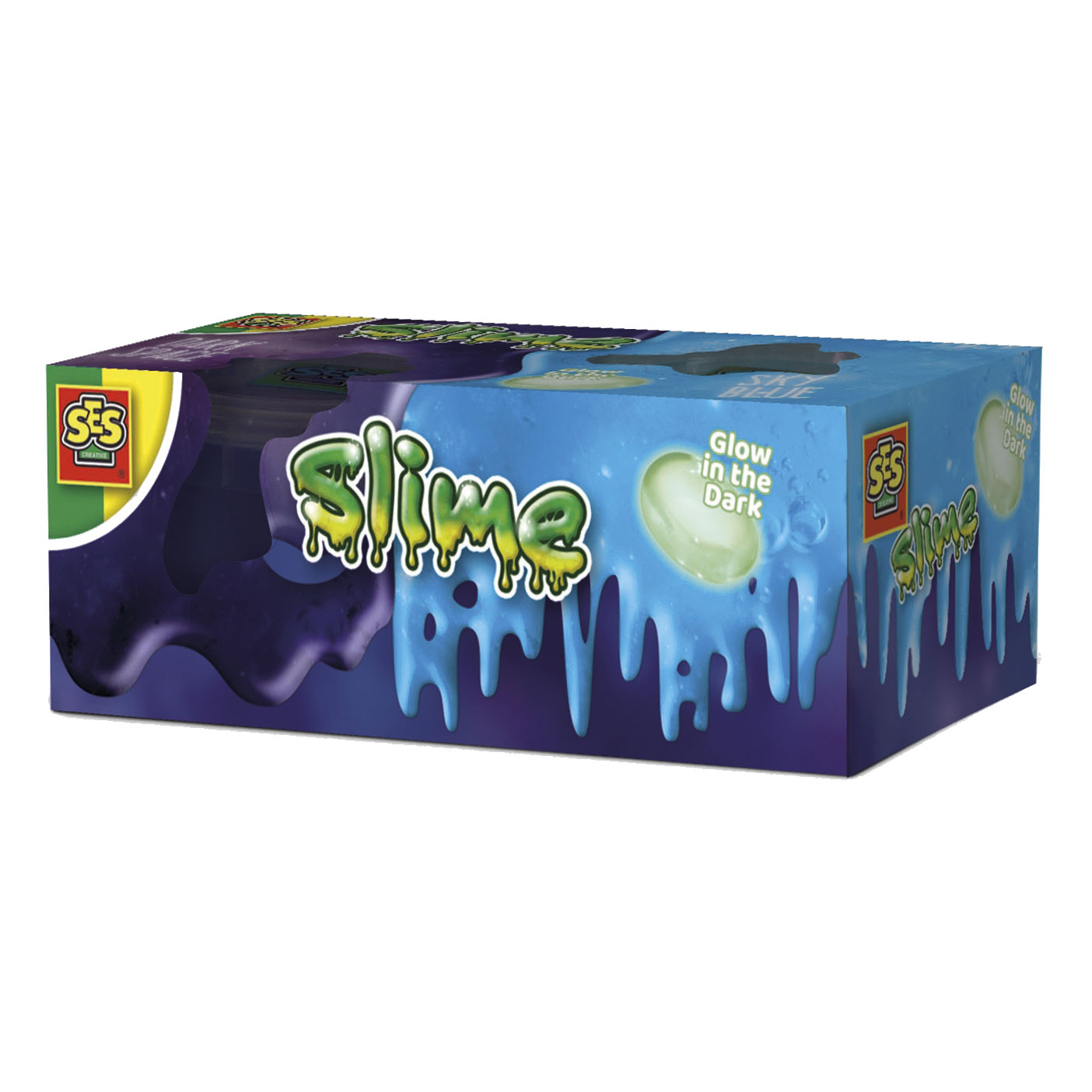 SES Slime 2x120gr - Moonstone Glow in the Dark