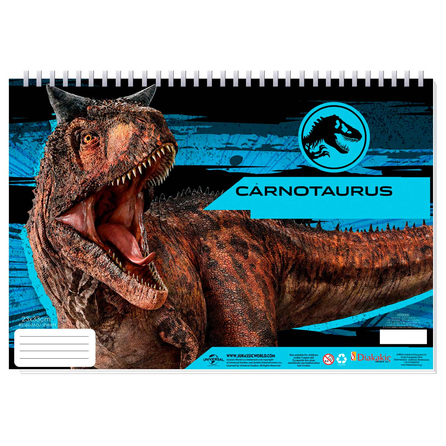 Jurassic World Schetsboek A4 + Stencils & Stickers