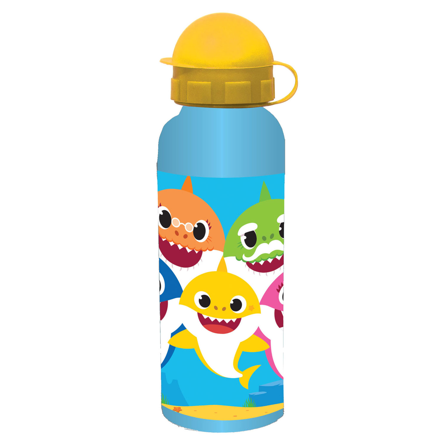 Drinkfles Metaal Baby Shark, 520ml