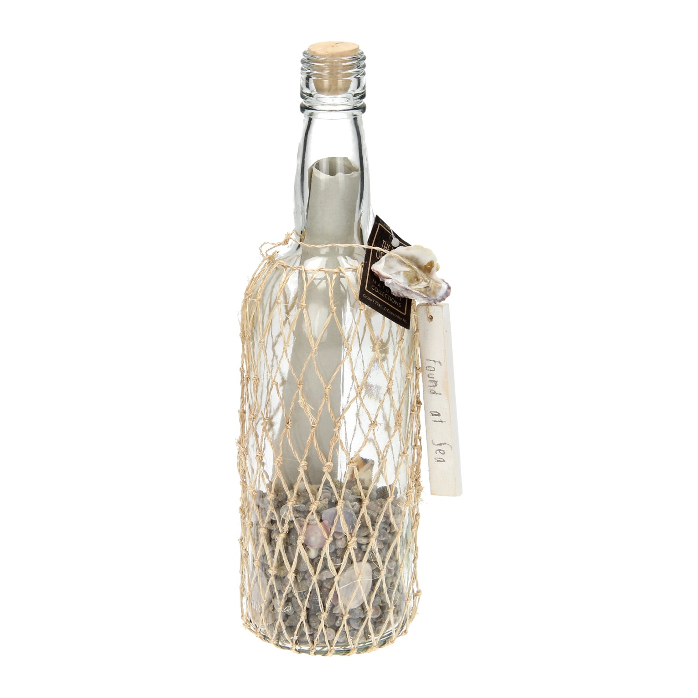 Glazen decoratie fles met label klein online kopen for Decoratie fles