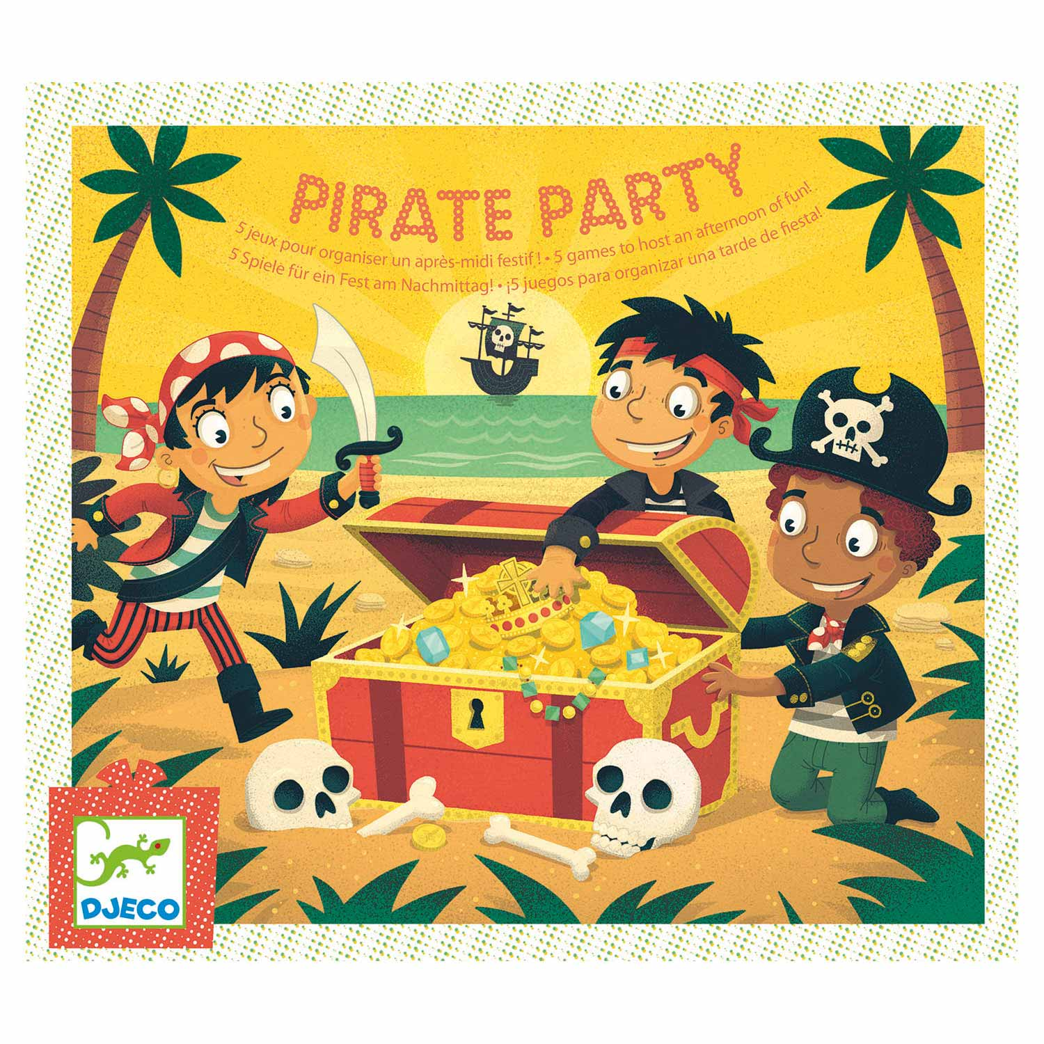 Djeco Piratenfeest Spellen, 5in1