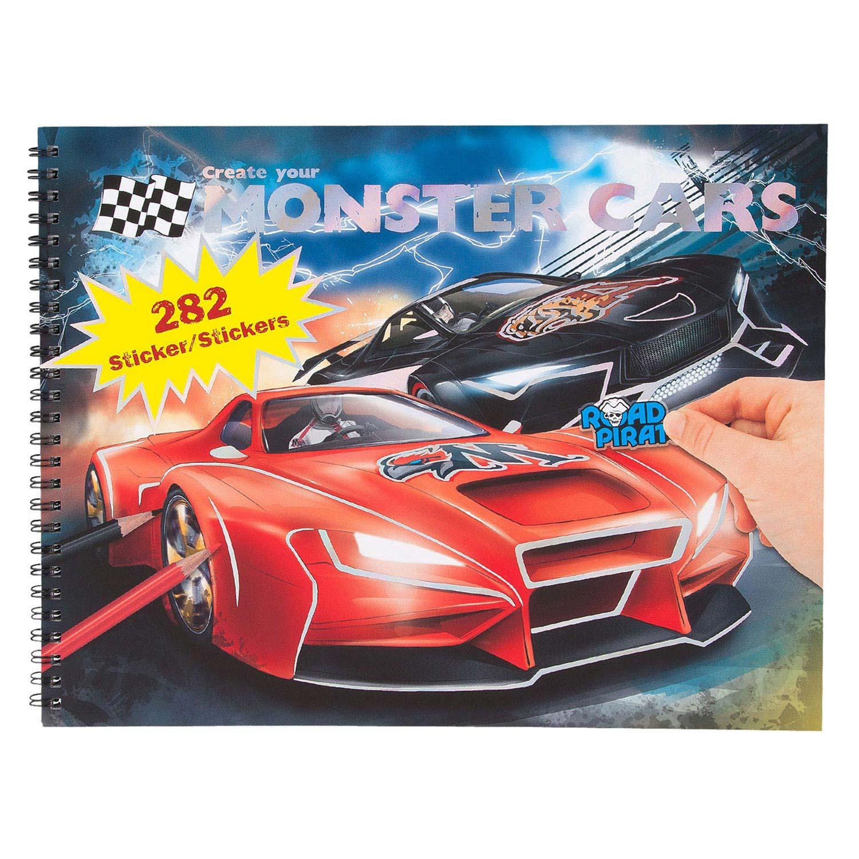 Create Your Monster Cars Kleurboek Online Kopen Lobbes Nl