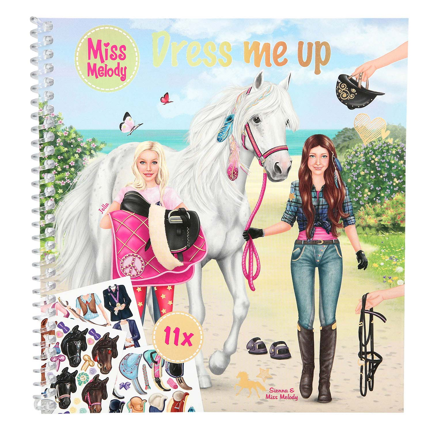 Miss Melody Dress Up Your Horse Stickerboek