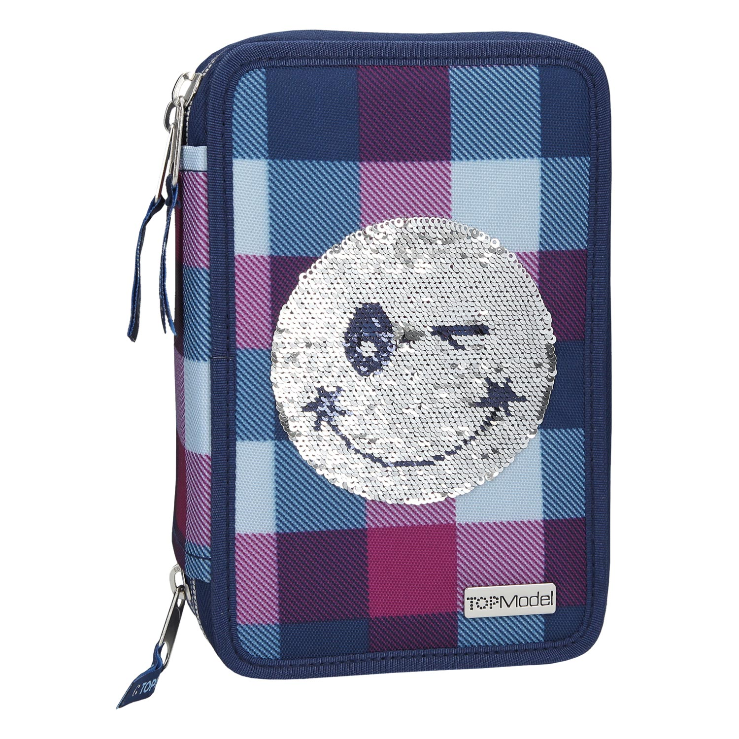 TOPModel 3-Vaks Etui Gevuld - Smiley Sequins