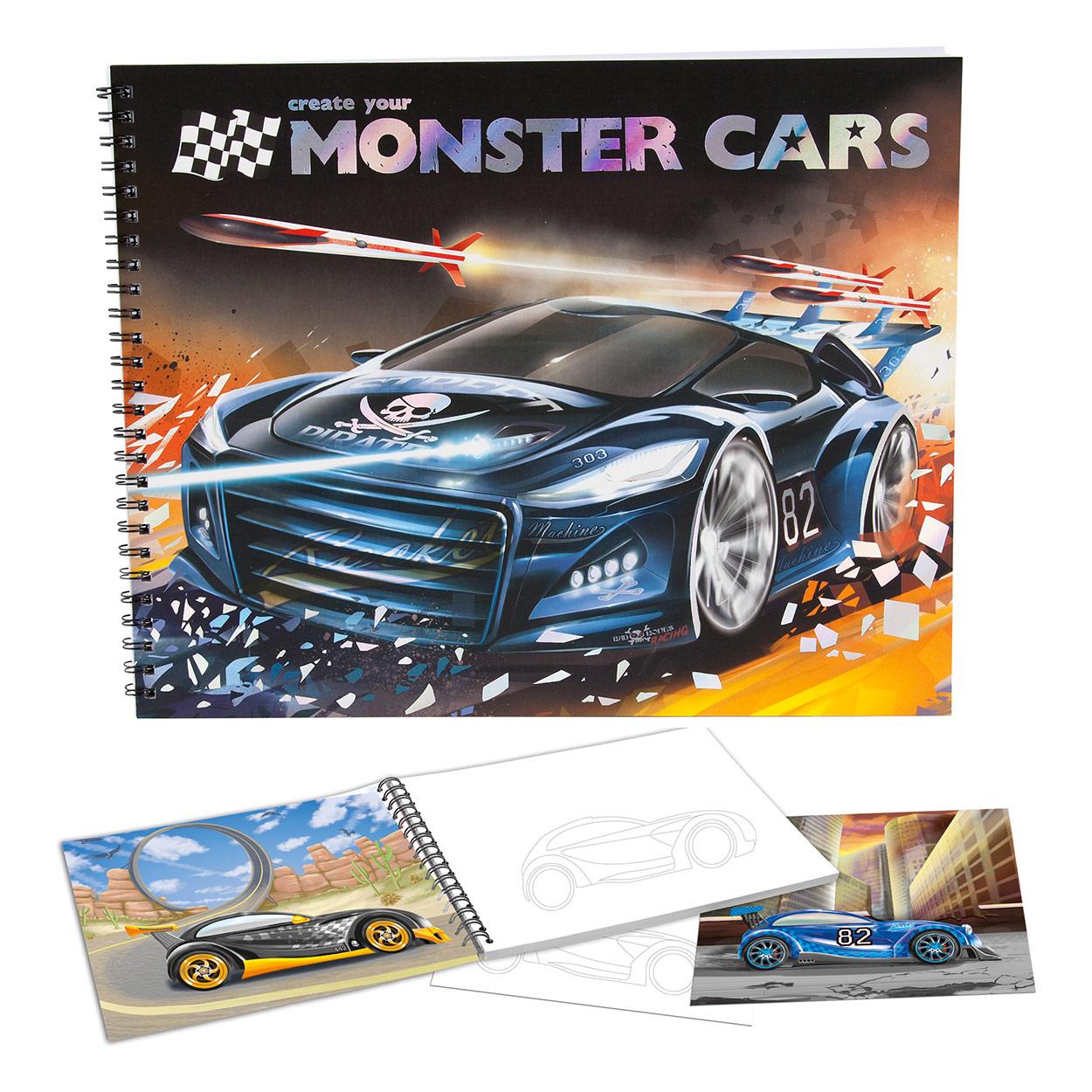 Monster Cars Kleurboek Online Kopen Lobbes Nl