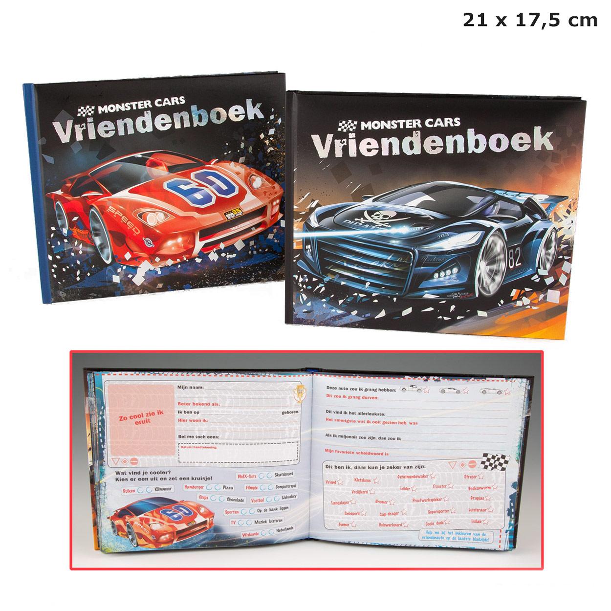 Monster Cars Vriendenboek Blauw Online Kopen Lobbes Nl