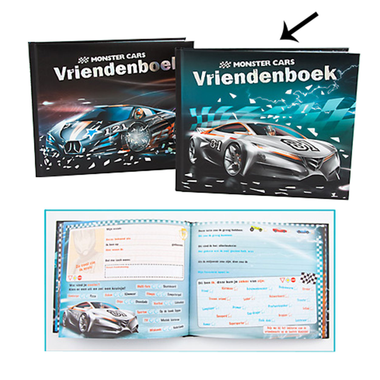 Monster Cars Vriendenboek - '81'