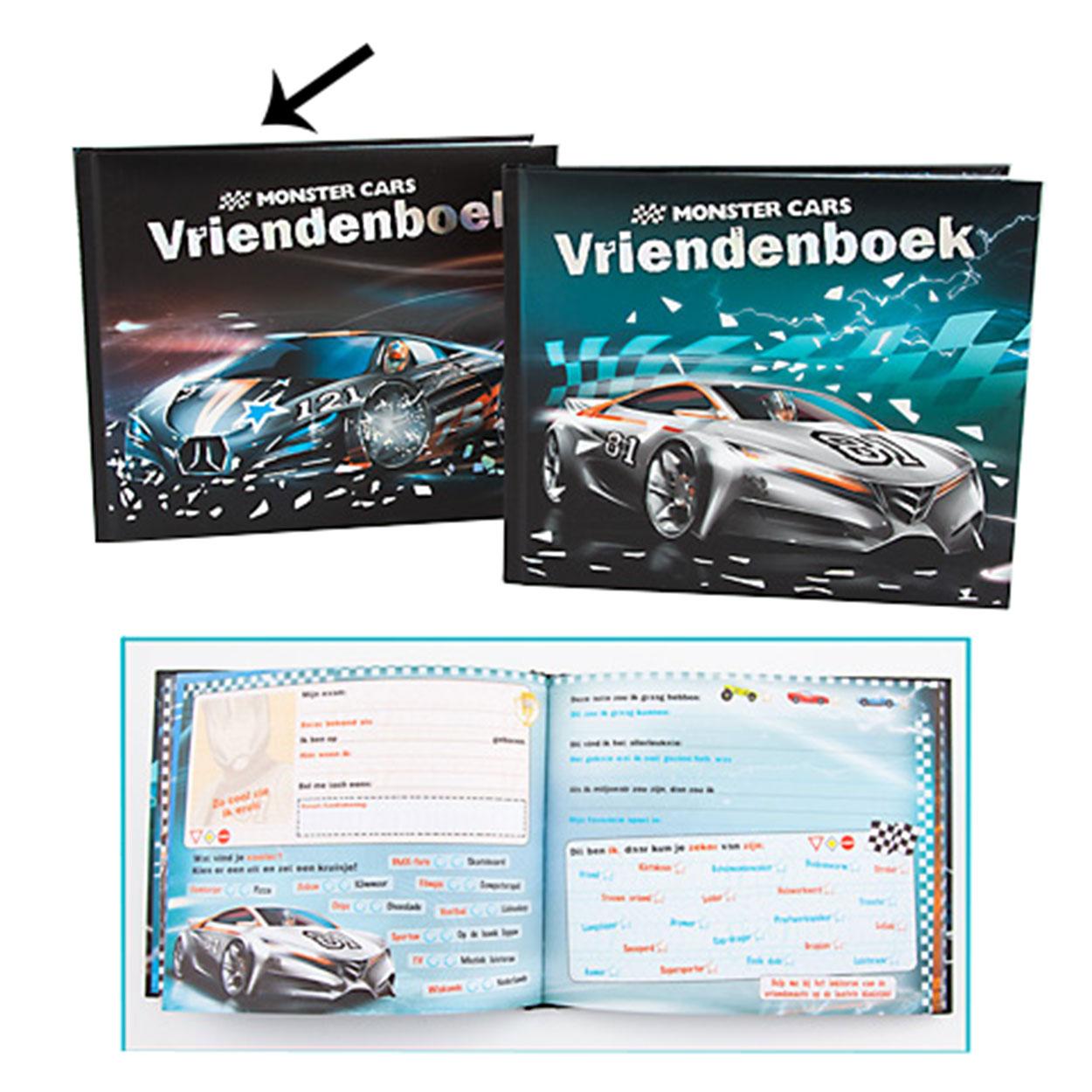 Monster Cars Vriendenboek Online Kopen Lobbes Nl