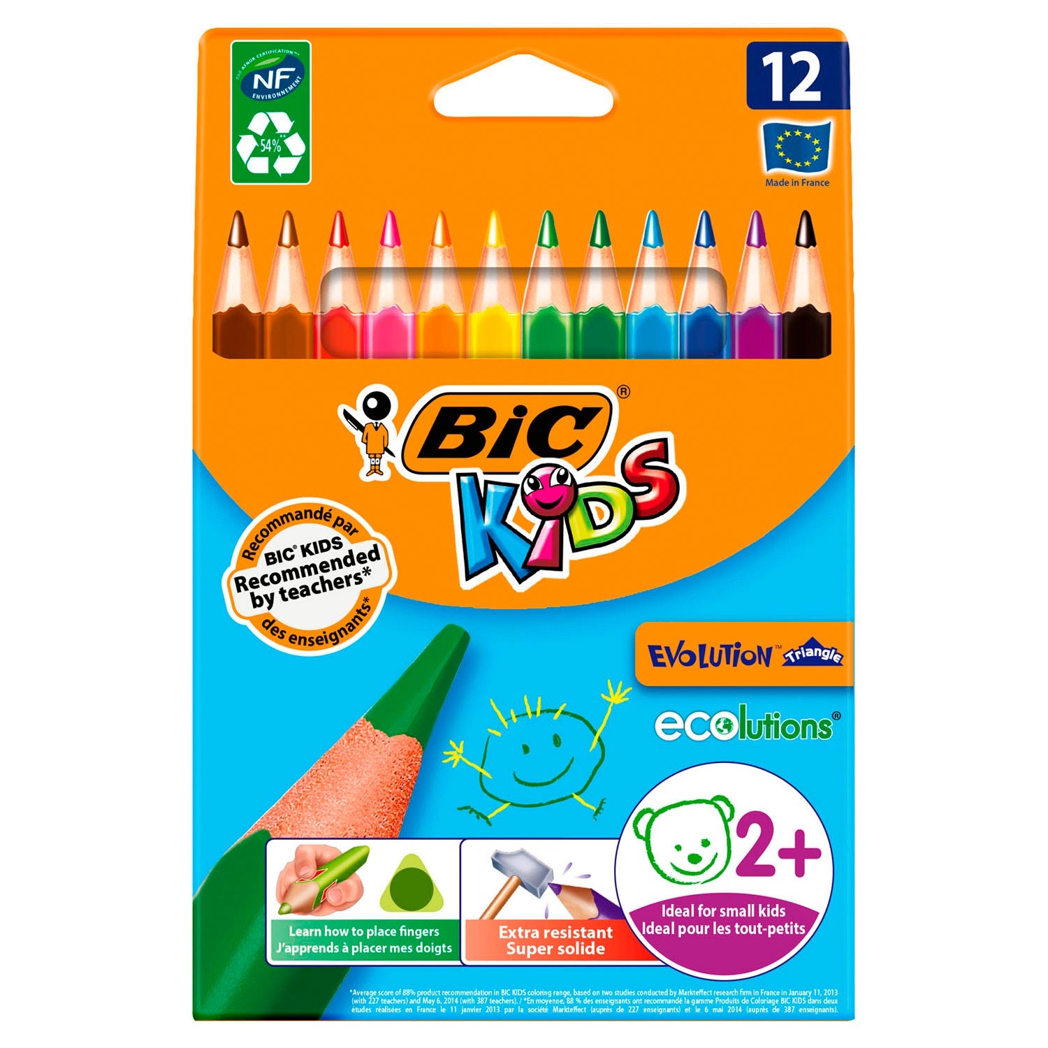 BIC Kids ECOlutions Evolution Triangle, 12st.