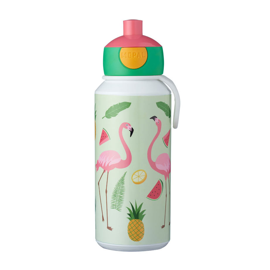 Mepal Campus Drinkfles Pop-up - Tropical Flamingo