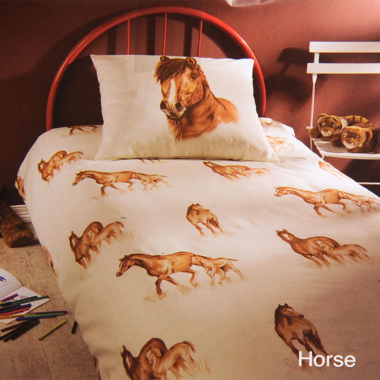 Dekbedovertrek Horse online kopen   Lobbes nl