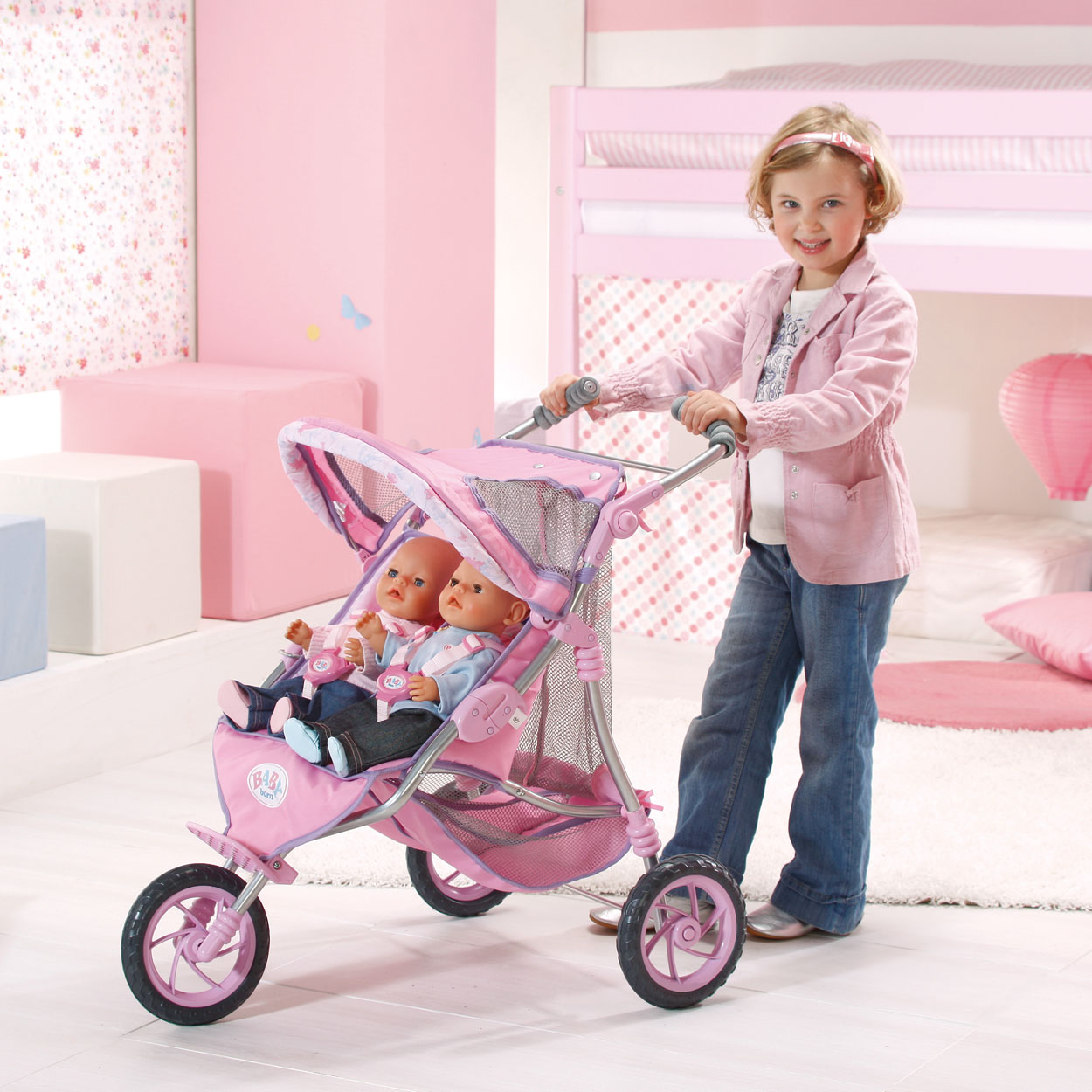 baby born tweeling wandelwagen online kopen. Black Bedroom Furniture Sets. Home Design Ideas