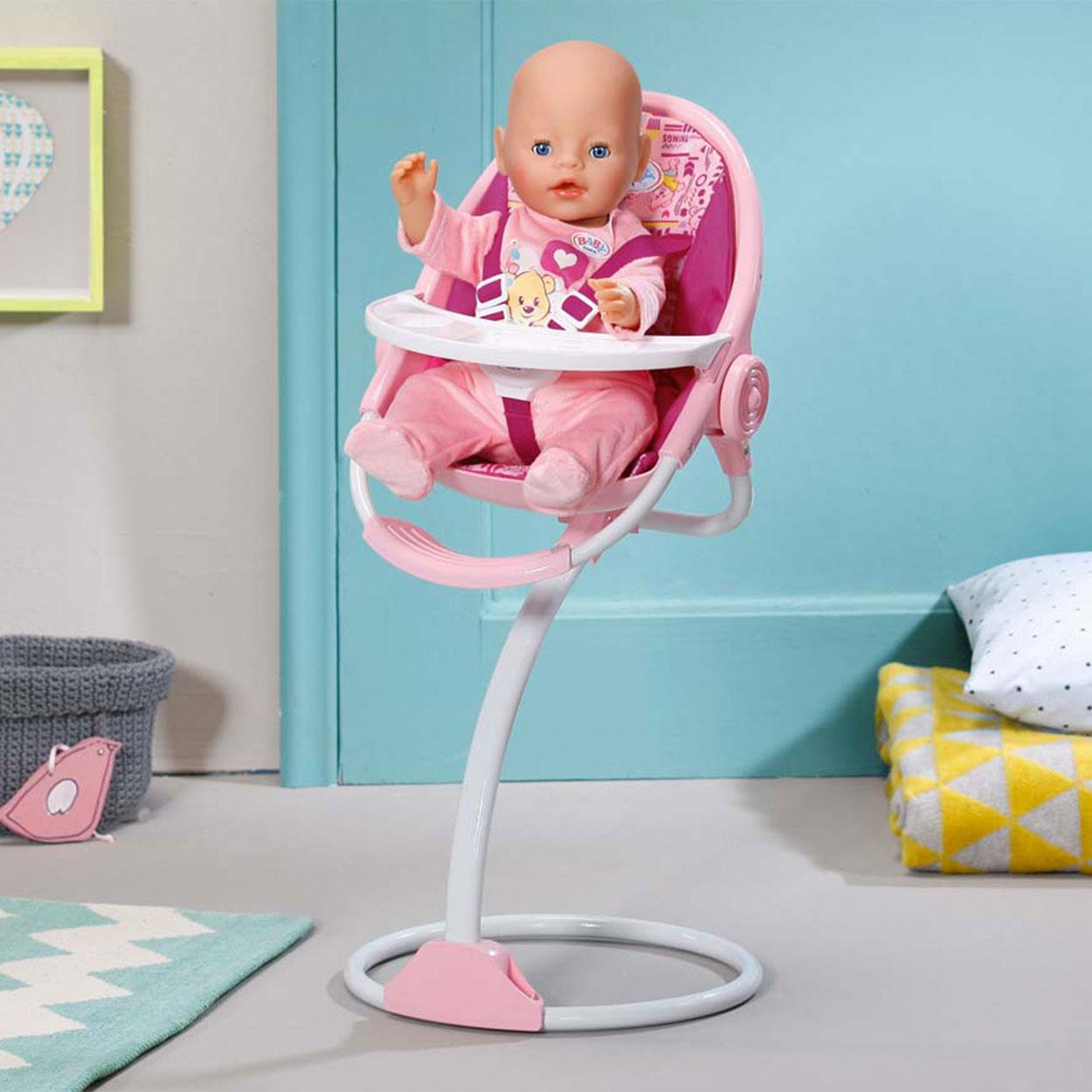 Hoge Eetstoel Baby.Baby Born Kinderstoel