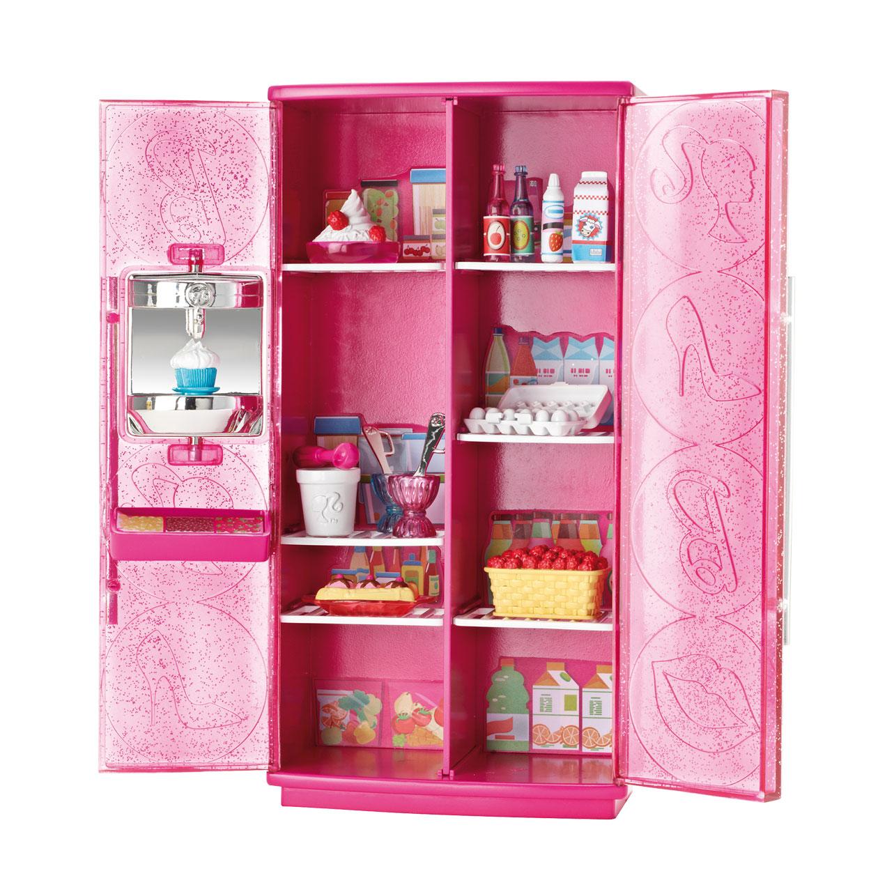 barbie meubilair luxe koelkast online kopen. Black Bedroom Furniture Sets. Home Design Ideas