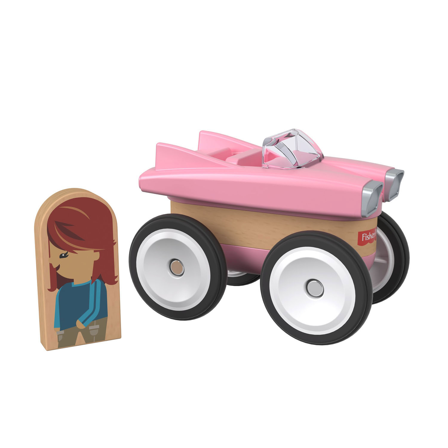 Fisher Price Wonder Makers -  Roze Auto