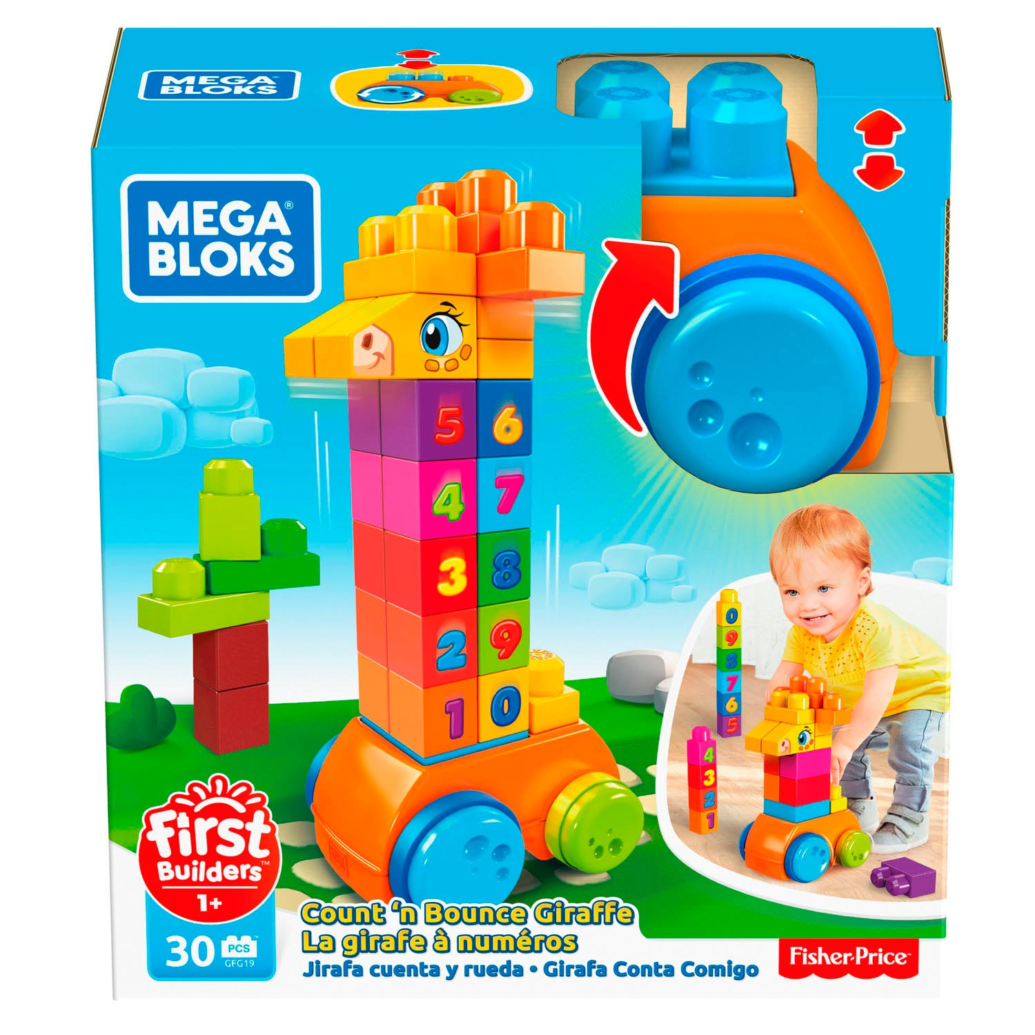 Fisher Price Mega Bloks - 123 tellen maar