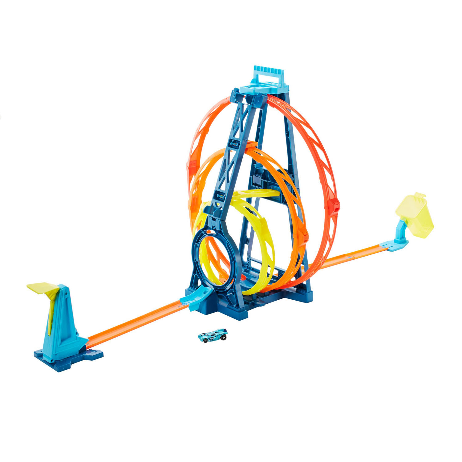 Hot Wheels Track Builder - Driedubbele loopingset