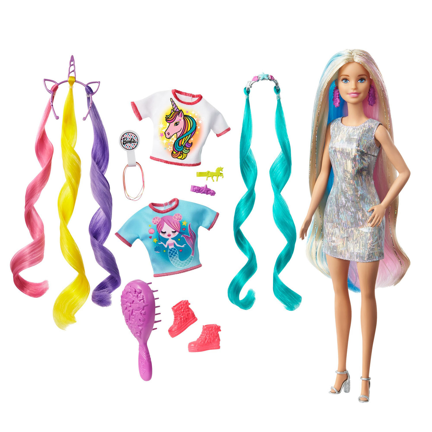 Barbie Pop Fantasiehaar