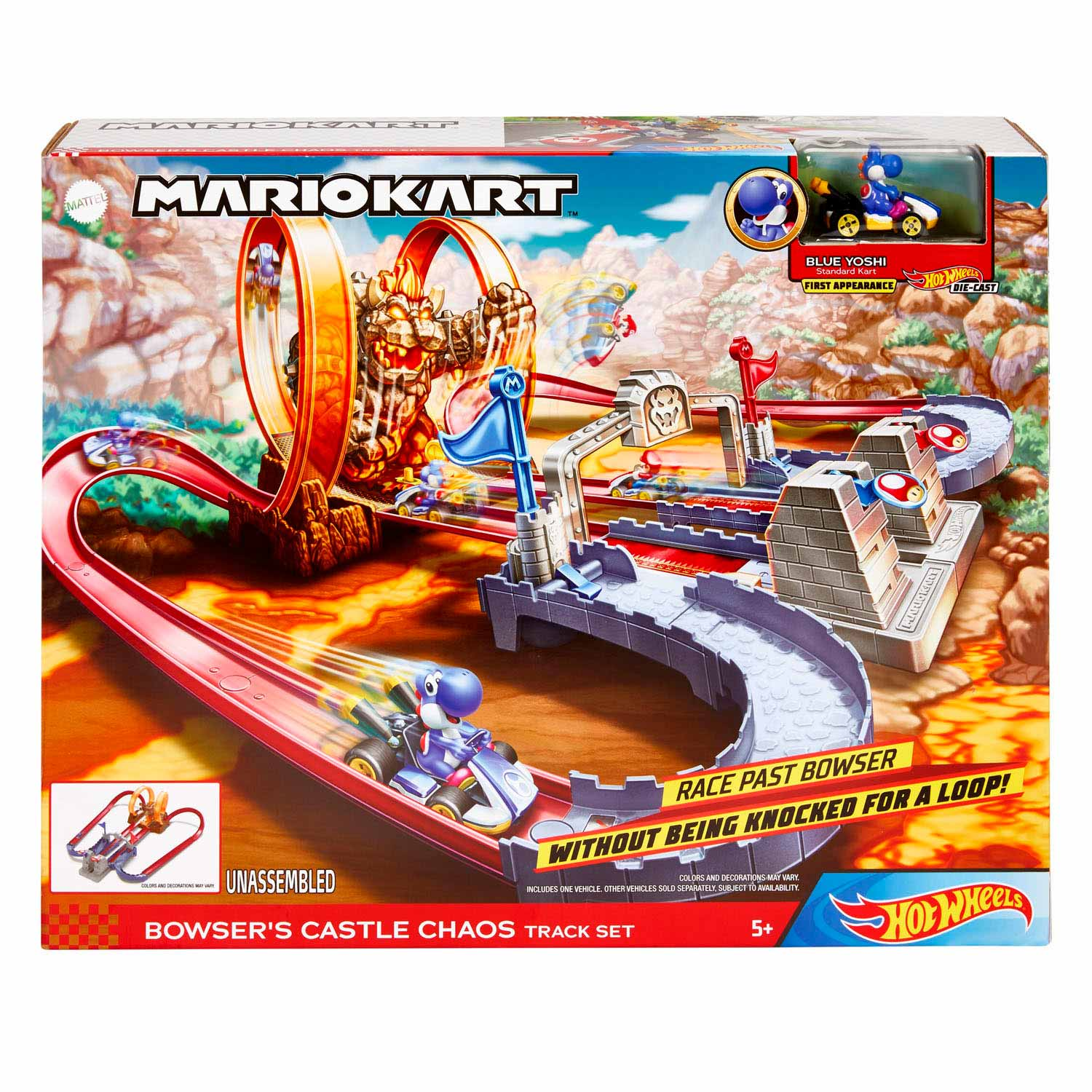 Hot Wheels Mario Kart Bowsers Kasteel Chaos Speelset