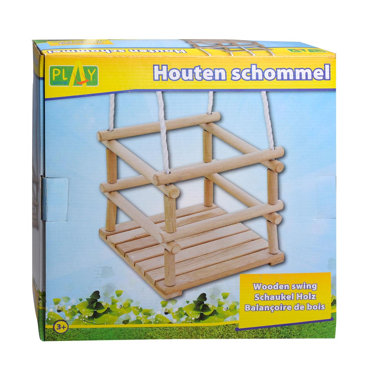 Schommel Baby Hout.Houten Schommel Peuter Online Kopen Lobbes Nl