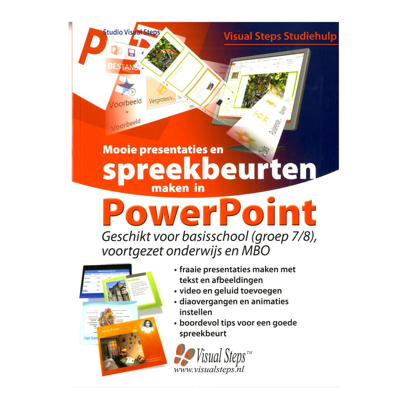mooie presentaties en spreekbeurten maken in powerpoint online kopen