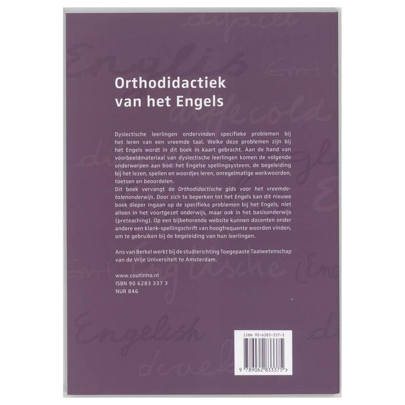 Orthodidactiek van het engels online kopen for Ladenblok in het engels