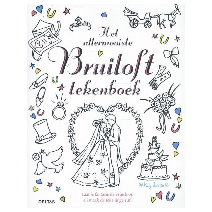 het allermooiste bruiloft tekenboek kopen lobbes nl