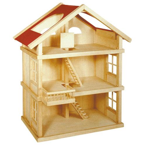 Houten poppenhuis xl online kopen for Meubels poppenhuis