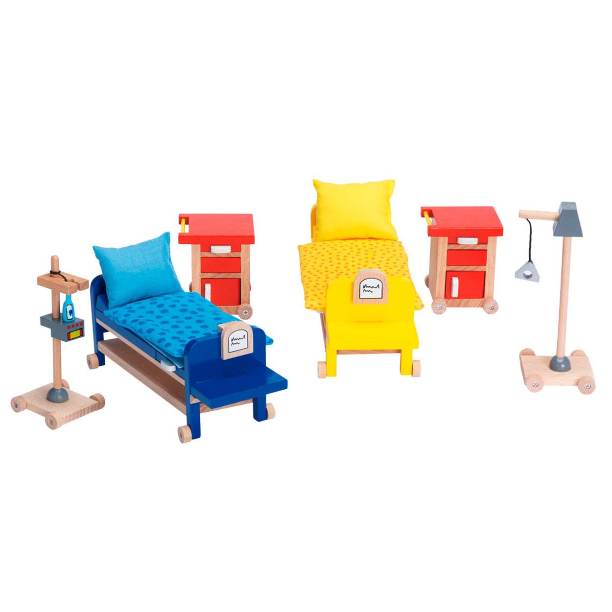 Ziekenhuis poppenhuis meubeltjes ziekenzaal online kopen for Meubels poppenhuis