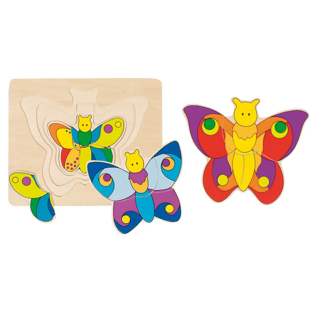 Houten 3 Lagen Puzzel Vlinder Online Kopen Lobbesnl