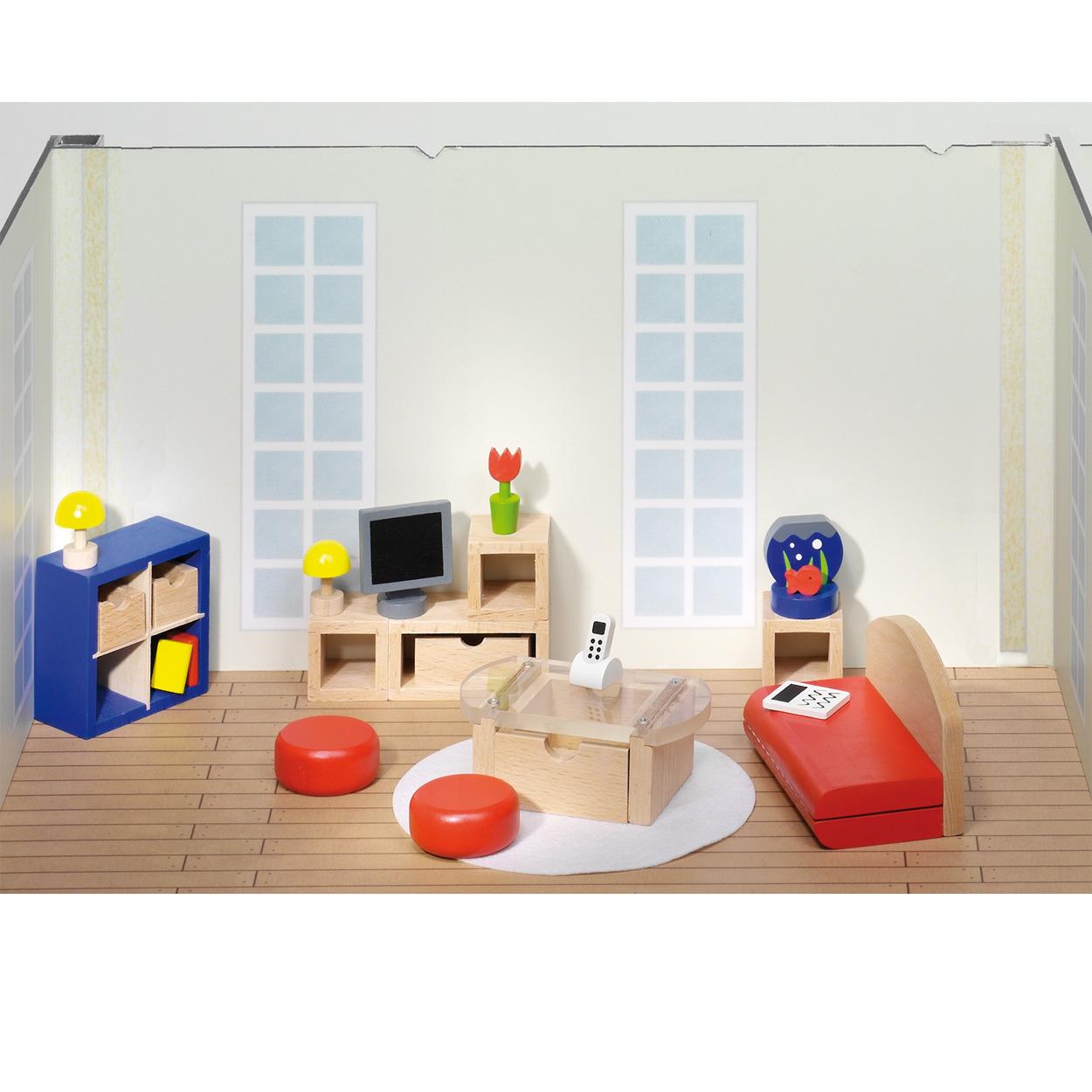 Poppenhuis huiskamer online kopen for Huiskamer meubels