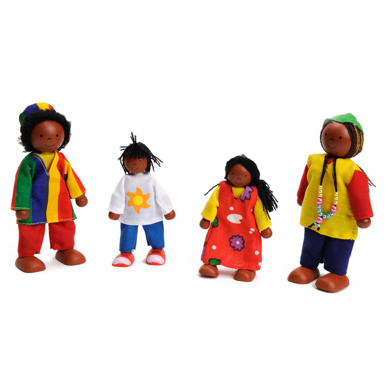 poppenhuis poppen afrikaanse familie online kopen
