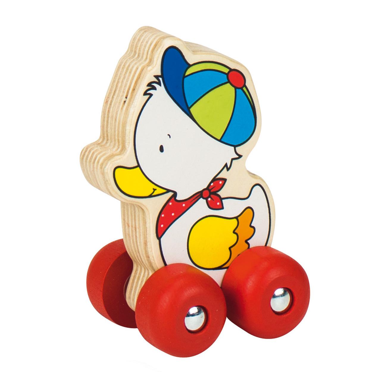 Houten eend op wielen online kopen - Houten doos op wielen ...